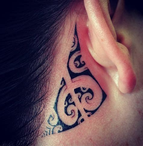tribal ear tattoos hawaiian designs and meanings