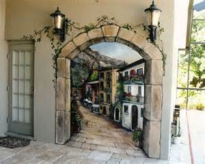 Outdoor Wall Mural Outdoor Italian Mural Loggia Does Your Patio Speak