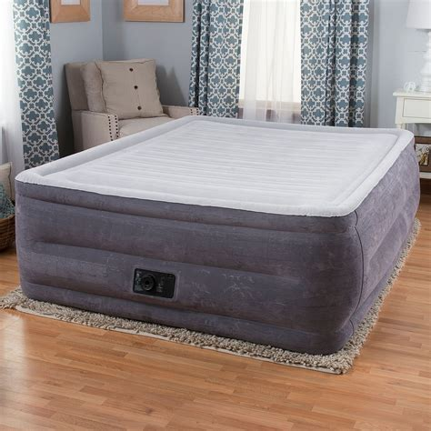 intex comfort plush intex comfort plush high rise profile air mattress w