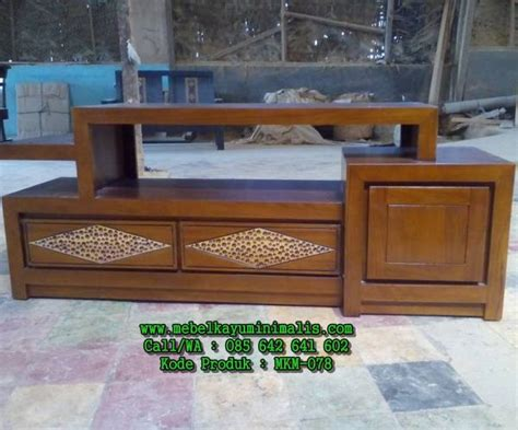 Lemari Kayu Pendek harga model bufet jati pendek minimalis mebel kayu minimalis