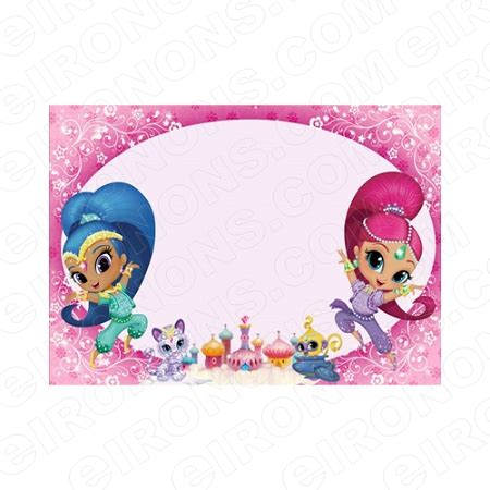 Shimmer And Shine Blank Editable Invitation Instant Download Isas2 Your One Stop Invitation Shimmer And Shine Invitations Templates