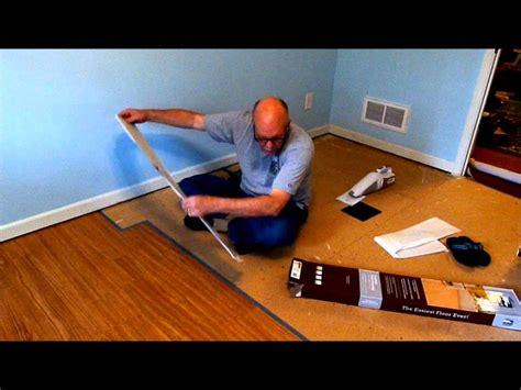 installing allure trafficmaster resilient vinyl flooring youtube