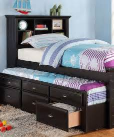 Girls Twin Trundle Bed Bed Drawers Twin And Black On Pinterest