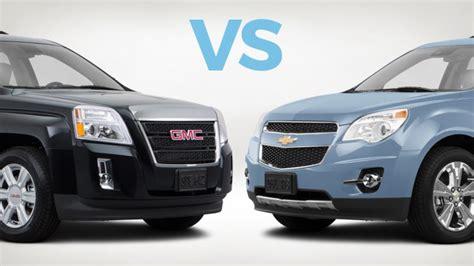 gmc terrain vs chevy equinox gmc terrain vs chevrolet equinox review carmax