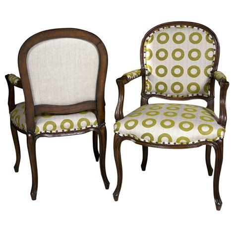 pair of country armchairs with nailheads at 1stdibs