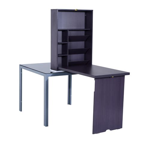 fold out desk laptop aosom ca
