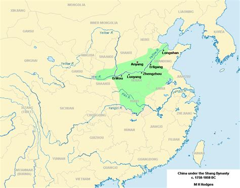 shang dynasty map shang civilization map www pixshark images