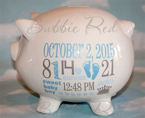 toddler piggy bank personalized piggy bank baby boy piggy bank baby birth stats