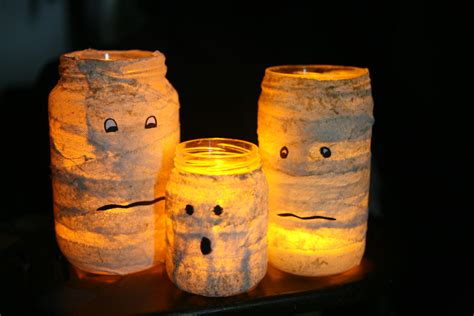 candle holder craft craft mummified glass jar candle holder