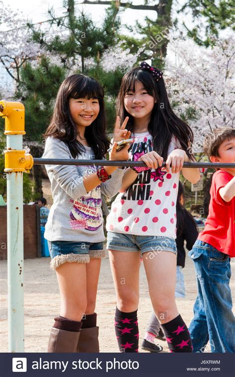 japanese preteen girl models japan shukugawa two pre teen japanese girls in t shirts