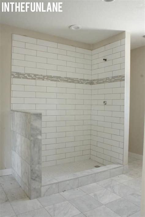 White Marble Subway Tile Bathroom by White Subway Tiles Honeycomb Shower Floor Marble Tiles