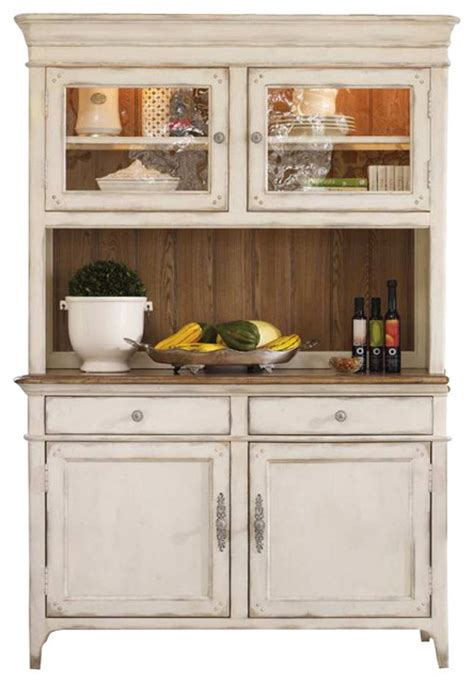Antique White Buffet And Hutch Hooker Furniture Chic Coterie Buffet And Hutch In Antique