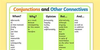conjunctions and other connectives word mat ks2 connectives
