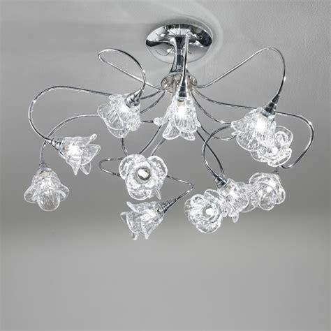 lade da soffitto di design lada plafoniera cromo moderno magnolia antea luce