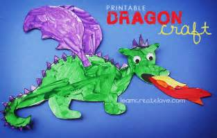printable dragon craft
