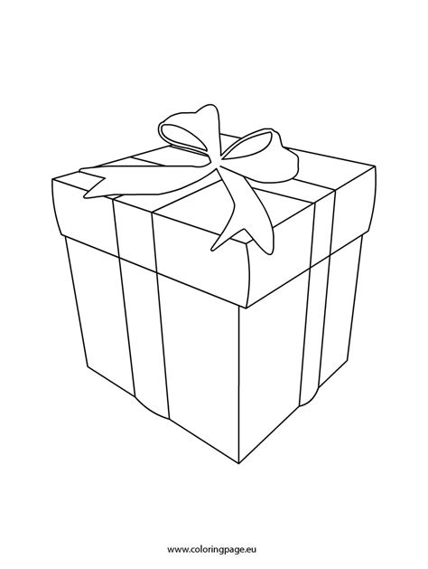 coloring page of gift box gift box coloring template coloring page
