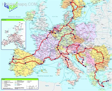 rail map of europe map of europe eurail holidaymapq