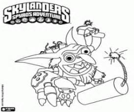 Skylander Boomer With Dynamite Coloring Page Printable Game sketch template