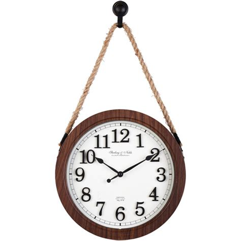 better homes and gardens wall decor better homes and gardens 12 quot hanging rope wall clock