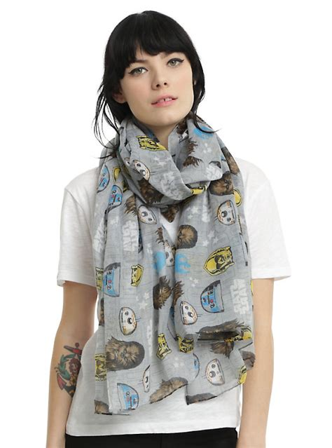 Scarf Droids Wars Not The Droids You Re Looking For Oblong Scarf