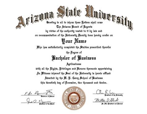Arizona State S Mba Program3 by Sles Of Diploma Templates