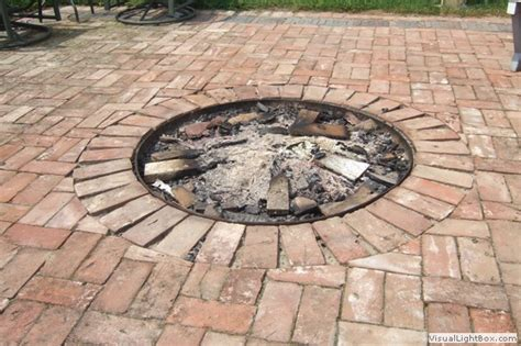 Firepit Bricks Brick Pit Casual Cottage