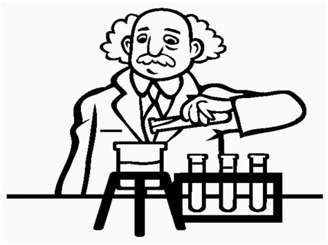 Scientist Coloring Pages scientist coloring pages to print