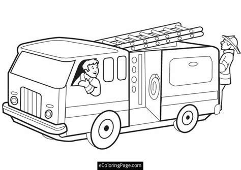 coloring pages fire trucks preschool fireman coloring pages printable fire truck with firemen