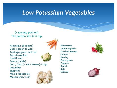 vegetables with potassium nutritional assessment in hemodialysis patient ppt