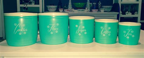 plastic kitchen canisters vintage turquoise plastic kitchen canisters i m thinking
