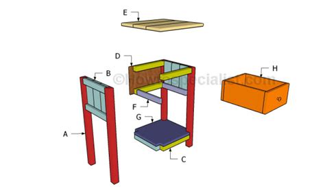 farmhouse bed plans howtospecialist how to build step farmhouse nightstand plans howtospecialist how to