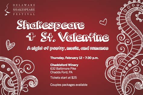 shakespeare valentines shakespeare st at chaddsford winery