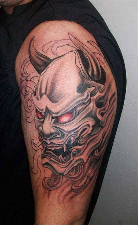 oni mask tattoos designs ideas and meaning tattoos for you