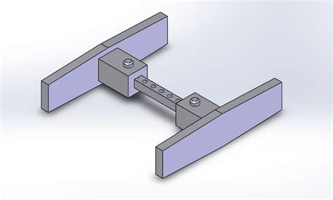 basic door handle  cad model library grabcad