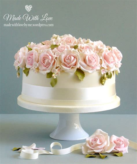 Wedding Cakes Roses by Bed Of Roses Wedding Cake Made With By Me