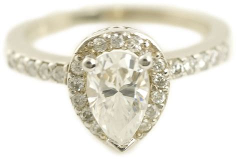 pear cut halo engagement ring 4065 arden jewelers