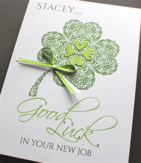 Handmade Luck Cards - a5 handmade personalised luck clover card new
