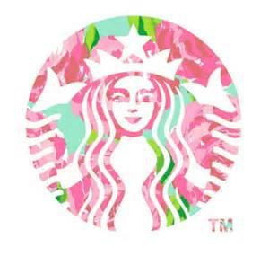 Lilly Pulitzer Starbucks logo cofee coffee cute image 590975 on favim com
