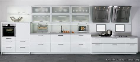 Contemporary White Kitchen Cabinets by Pictures Of Kitchens Style Modern Kitchen Design