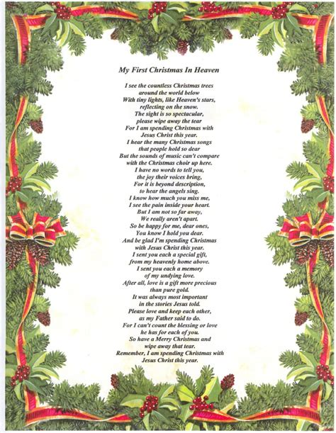 printable christmas in heaven poem search results for first christmas in heaven poem
