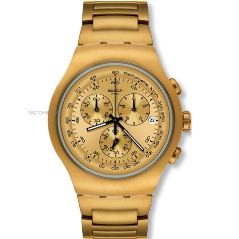 Men's Swatch Golden Block Chronograph Watch (YOG402G)   WATCH SHOP.com?