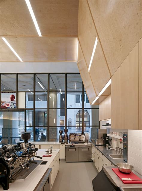 wooden coffee shop design this coffee shop in san francisco is designed with an
