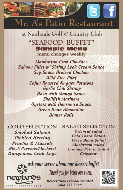 Sle Menu Seafood Buffet Seafood Buffet Menu