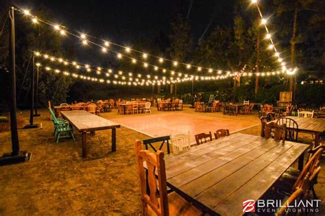 Backyard Lights by Backyard Wedding Reception Market Lights