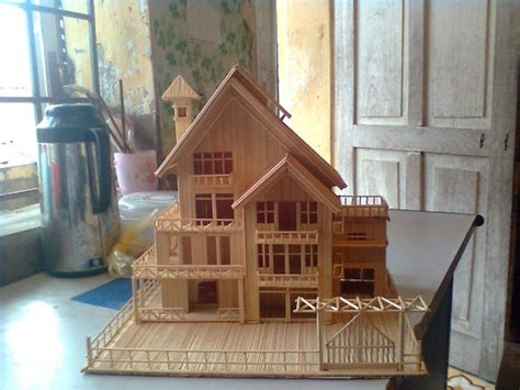 toothpick house making house by toothpicks diy to try pinterest