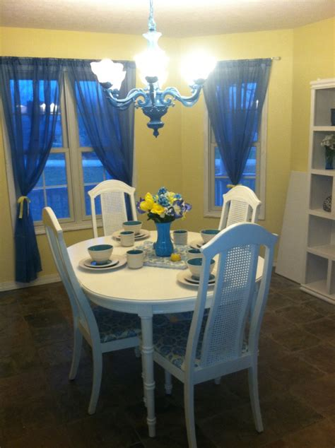 blue and yellow dining room dining room ideas
