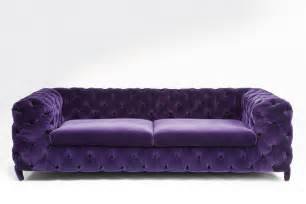 Modern Cushions For Sofas Modern Purple Velvet Tufted Sofa With 2 Cushions For Modern Living Room Spaces Ideas