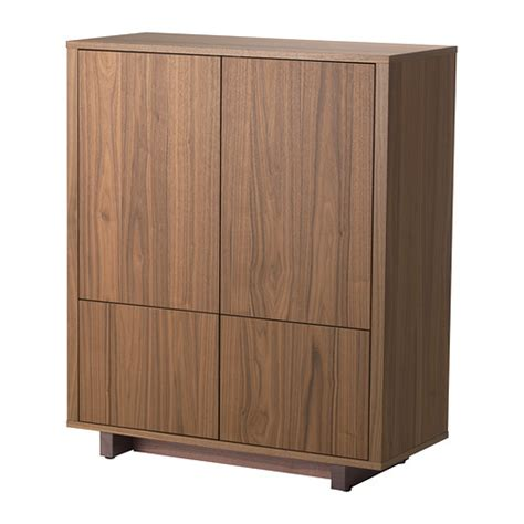 walnut cabinets stockholm cabinet with 2 drawers walnut veneer ikea