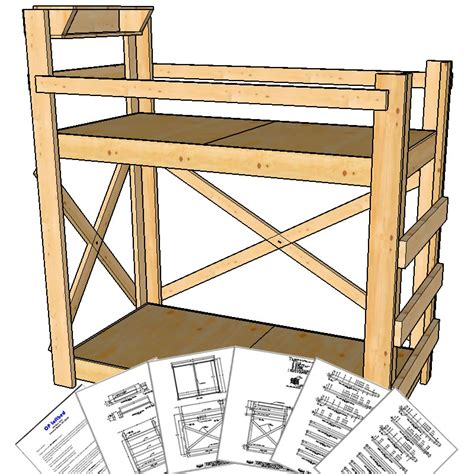 twin loft bed plans twin extra long size bunk bed plans tall height op loftbed