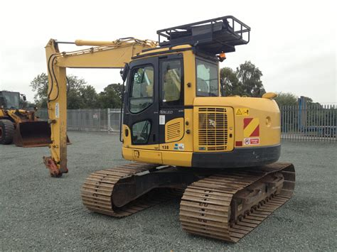 zero tail swing excavator for sale komatsu 138 thirteen ton zero tail swing excavator for